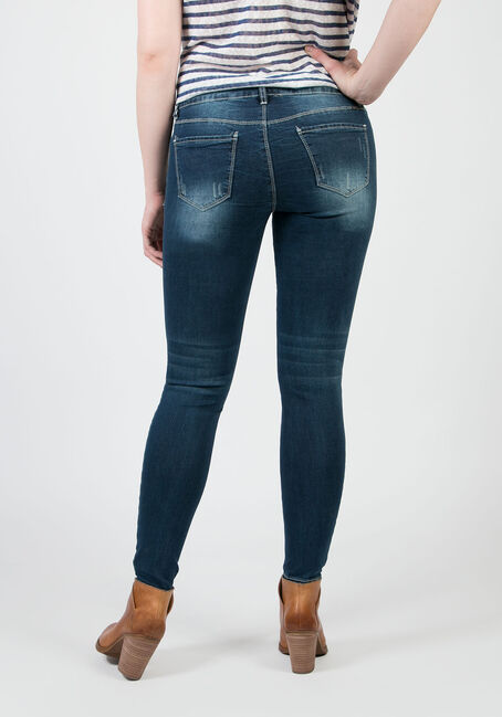 Ladies' Low Rise Skinny Jeans, MEDIUM VINTAGE WASH, hi-res