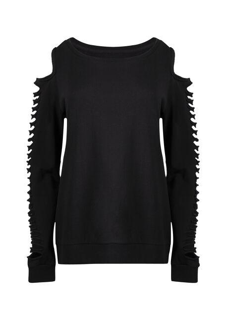Ladies' Shredded Sleeve Fleece