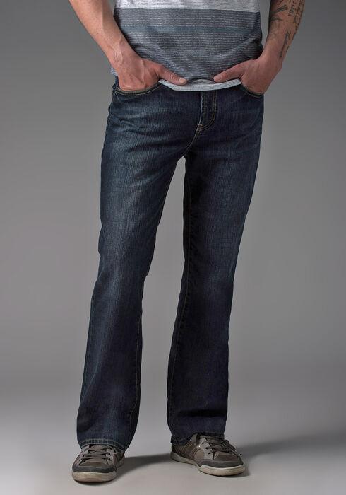 Men's Bootcut Dark Vintage Jeans, DARK WASH, hi-res