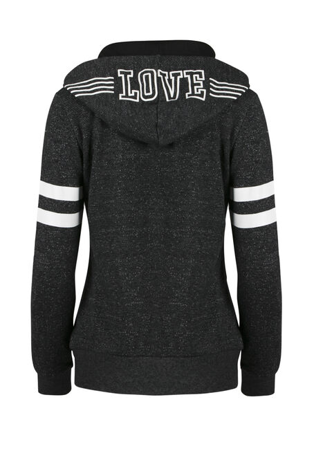 Ladies' Love Football Hoodie, BLACK, hi-res