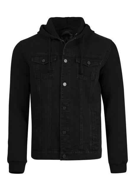 Men's Fleece Sleeve Jean Jacket