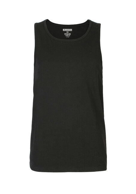 Men's Tank, BLACK, hi-res