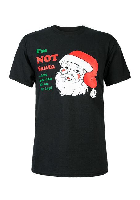 Men's I'm Not Santa Tee, BLACK, hi-res