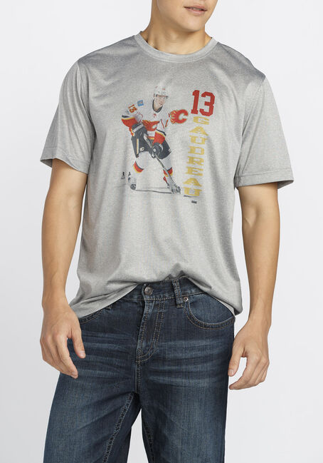 Men's NHL Flames Tee, HEATHER PEBBLE, hi-res
