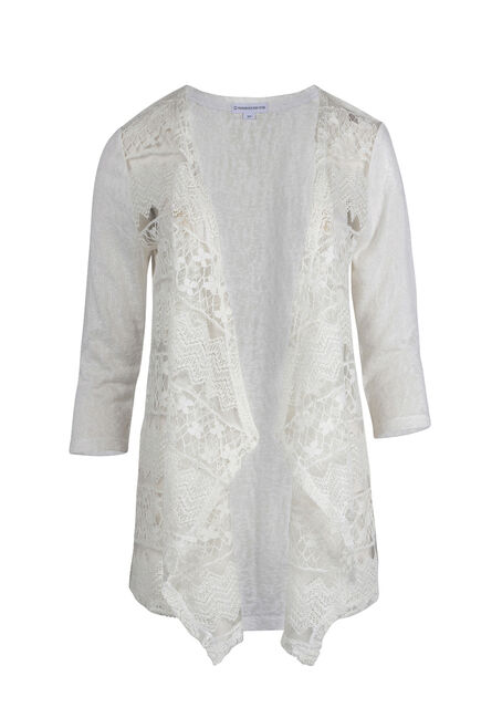 Ladies' Drape Font Lace Cardigan