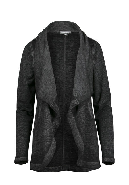 Ladies' Burnout Fleece Wrap, CHARCOAL, hi-res