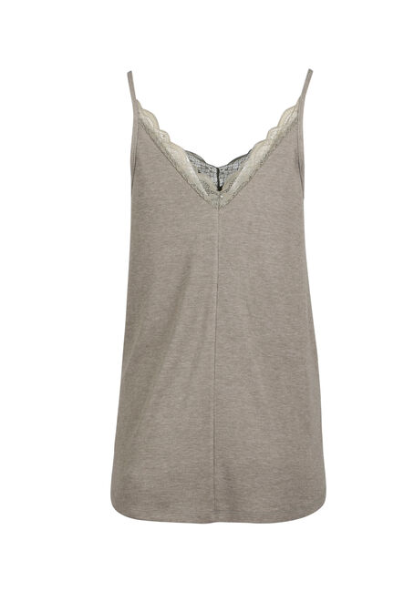 Ladies' Double V-Neck Tank, LIGHT OLIVE, hi-res