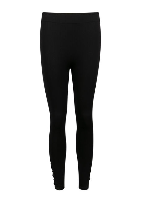 Ladies' Lattice Seamless Legging, BLACK, hi-res