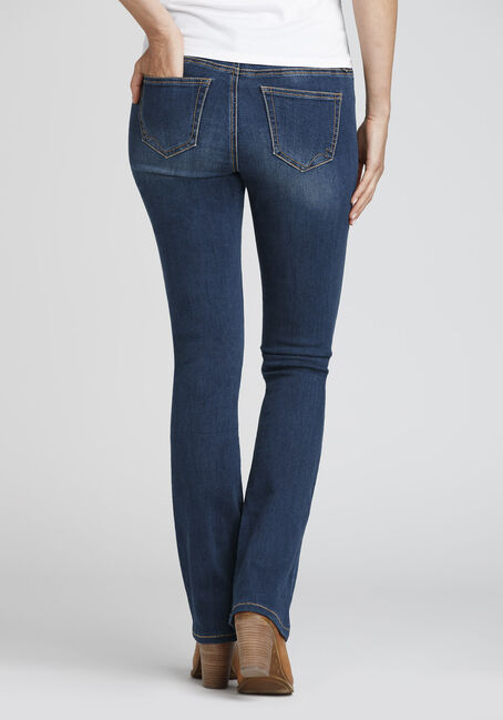 Ladies' Curvy Baby Boot Jeans, DARK WASH, hi-res