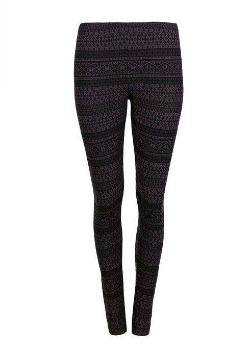 Ladies' Aztec Stripe Legging, BLACK/GREY, hi-res