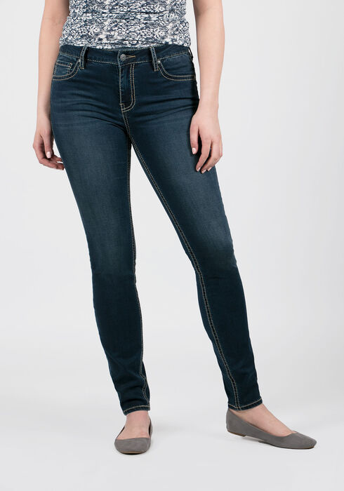 Ladies' Hi-Rise Skinny Jeans, MEDIUM VINTAGE WASH, hi-res