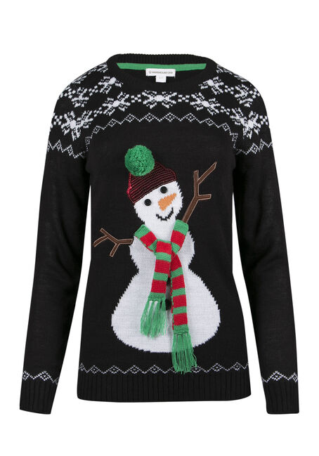 Ladies' Snowman Sweater
