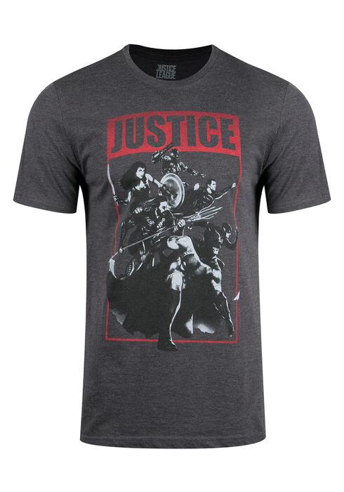 Men's Justice League Tee, CHARCOAL, hi-res