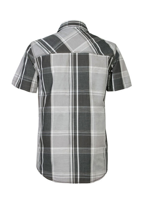 Men's Plaid Shirt, CHARCOAL, hi-res