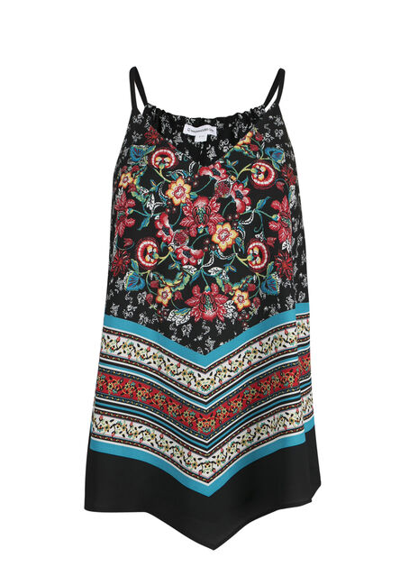 Ladies' Floral Hankerchief Tank