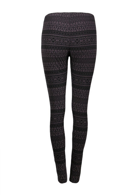 Ladies' Aztec Stripe Legging, BLACK/GREY, hi-res
