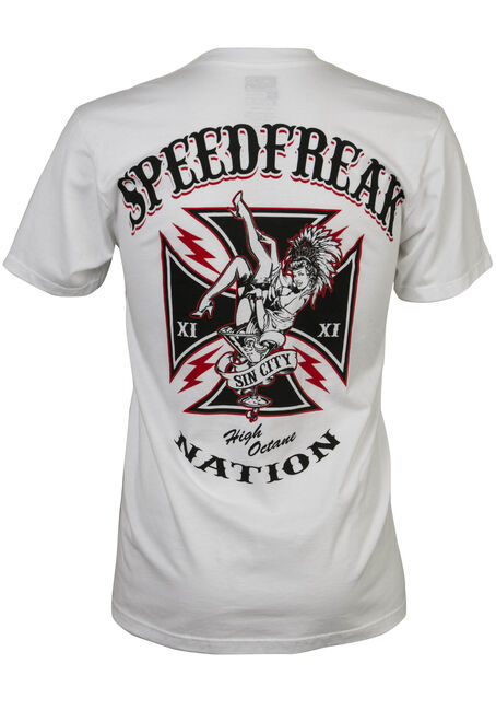 Men's Speed Freak Showgirl Tee, WHITE, hi-res
