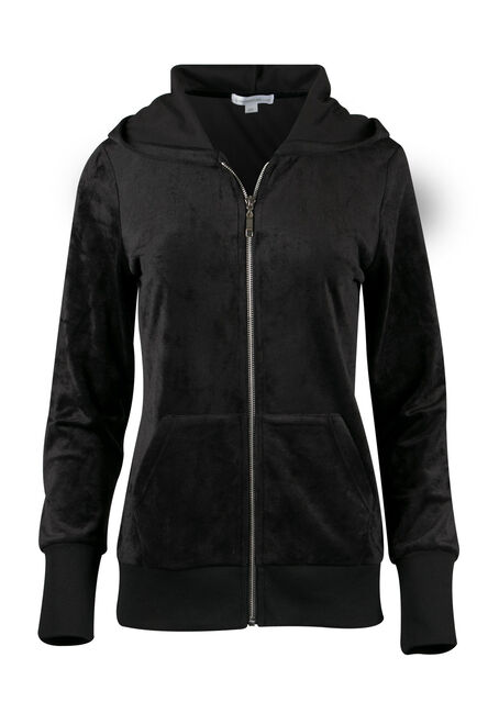 Ladies' Velour Zip Up