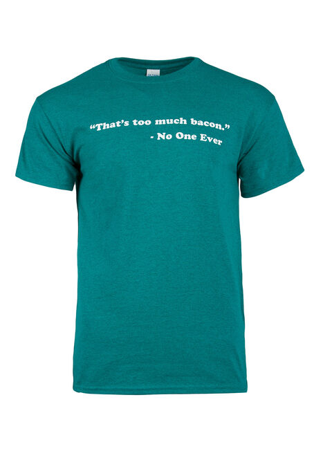 Men's That's Too Much Bacon Tee, AQUA, hi-res