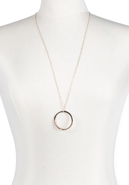Ladies' Delicate Circle Necklace