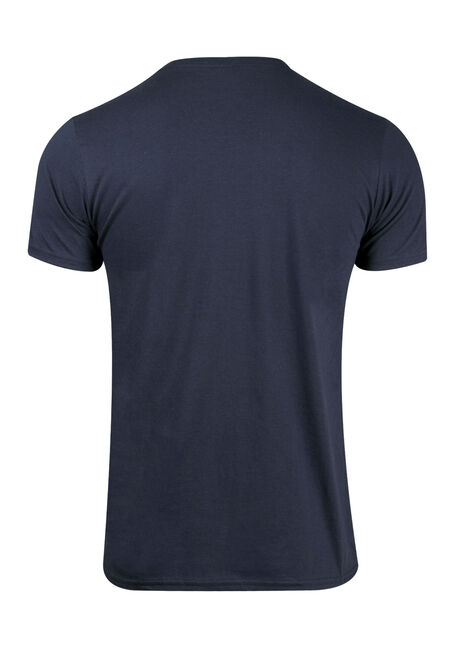 Men's Stripe Tee, BLUE, hi-res