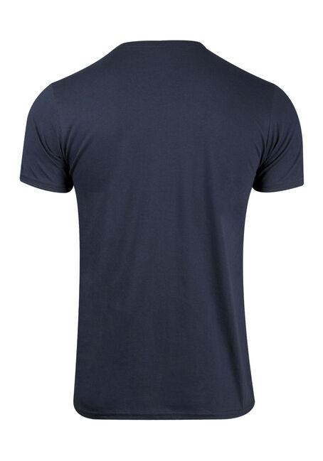 Men's Stripe Tee, BLUE, hi-res