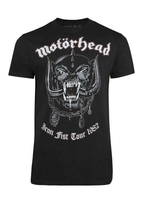 Men's Motorhead Tee, BLACK, hi-res