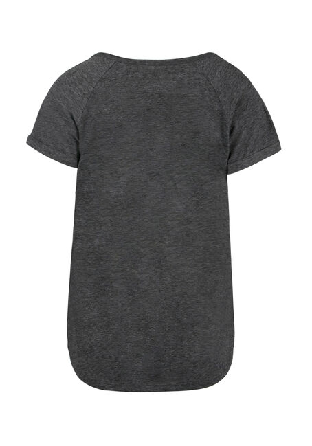 Ladies'  Notch Neck Tee, SD BLACK, hi-res