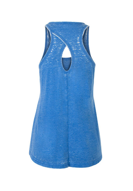 Ladies' Me Sarcastic Burnout Tank, COBALT, hi-res