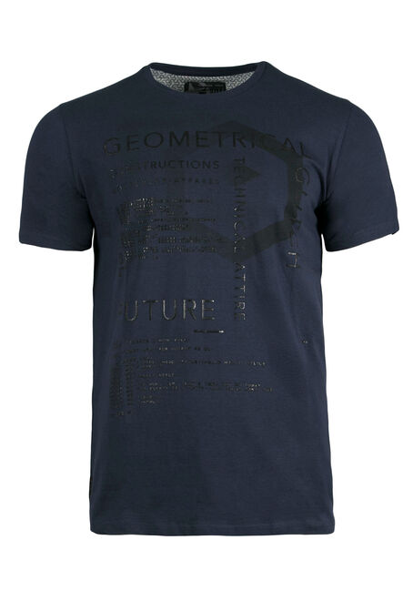 Men's Graphic Tee, NAVY, hi-res