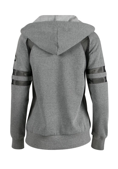 Ladies' Love Mesh Insert Hoodie, HEATHER GREY, hi-res
