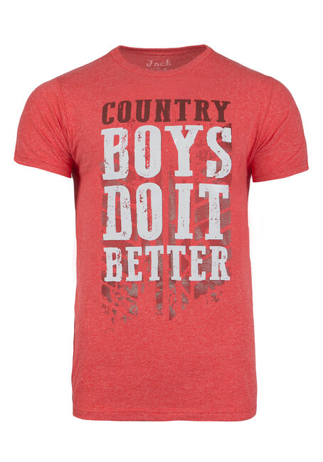 Men's Country Boys Do It Better Tee, RED, hi-res