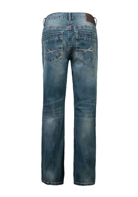 Men's Slim Boot Jeans, LIGHT VINTAGE WASH, hi-res