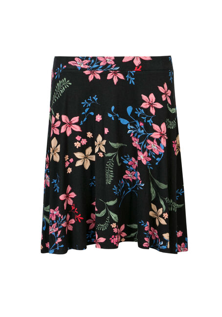 Ladies' Floral Flippy Skirt, MULTI, hi-res