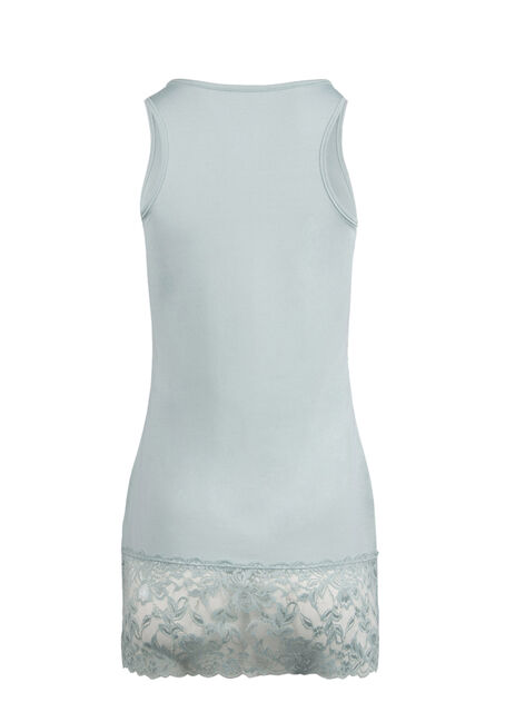 Ladies' Lace Trim Tunic Tank, MINT, hi-res