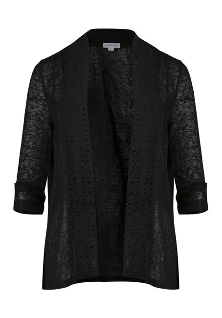 Ladies' Crochet Trim Cardigan
