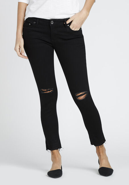 Ladies' Released Hem Skinny Jean