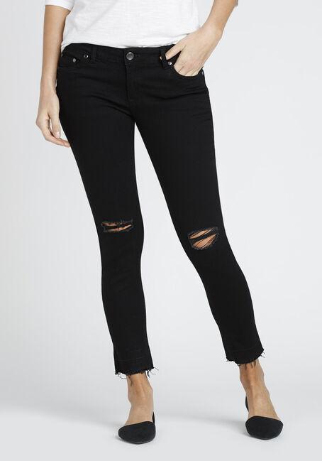 Ladies' Released Hem Skinny Jean