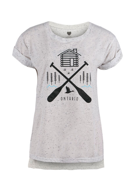 Ladies' Ontario Lake Life Tee, BLK/WHT, hi-res