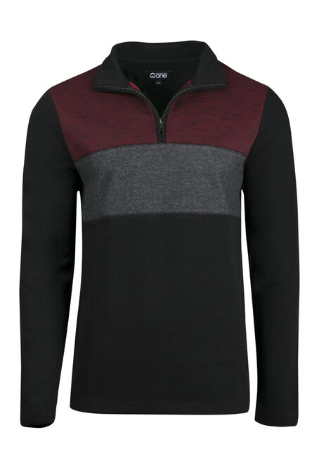 Men's 1/4 Zip Rib Knit Top