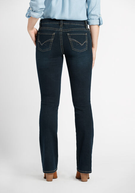 Ladies' Contour Boot Dark Jeans, DARK VINTAGE WASH, hi-res
