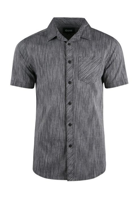Men's Space Dye Shirt, CHARCOAL, hi-res