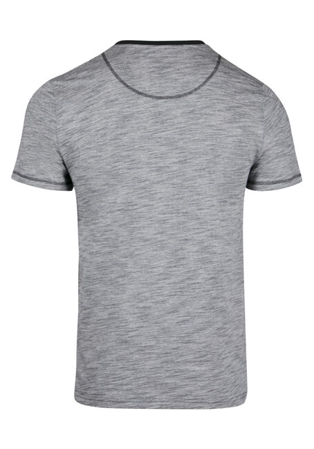 Men's Everyday Henley Tee, GREY, hi-res