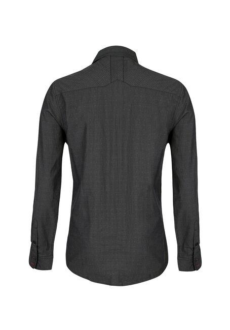 Men's Textured Dobby Shirt, BLACK, hi-res