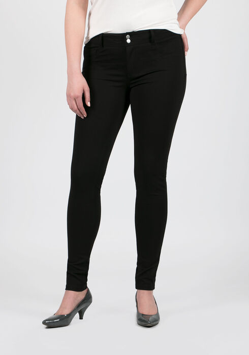 Ladies' Skinny Pants, BLACK, hi-res