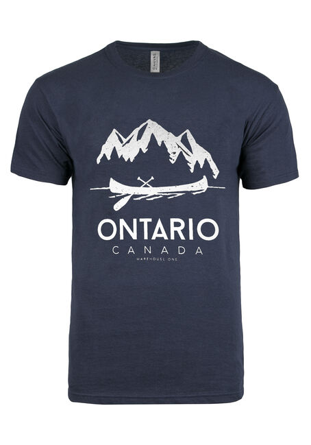Men's Ontario Canoe Tee, NAVY, hi-res