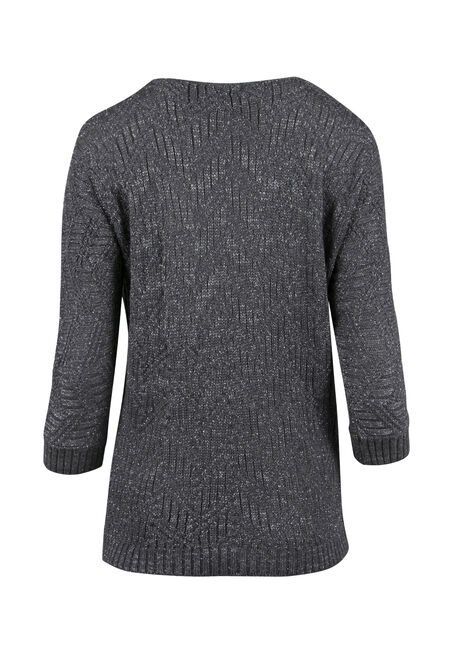 Ladies' Shimmer Sweater, GREY/SILVER, hi-res