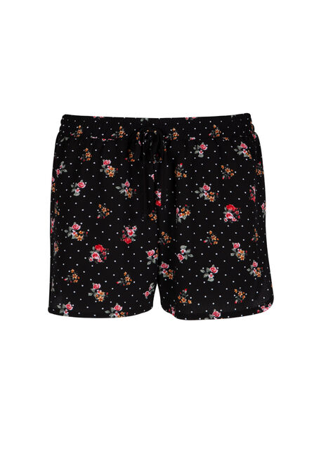 Ladies' Floral Polka Dot Soft Short