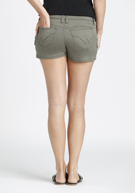 Ladies' Cargo Not-So-Short Short, DARK OLIVE, hi-res