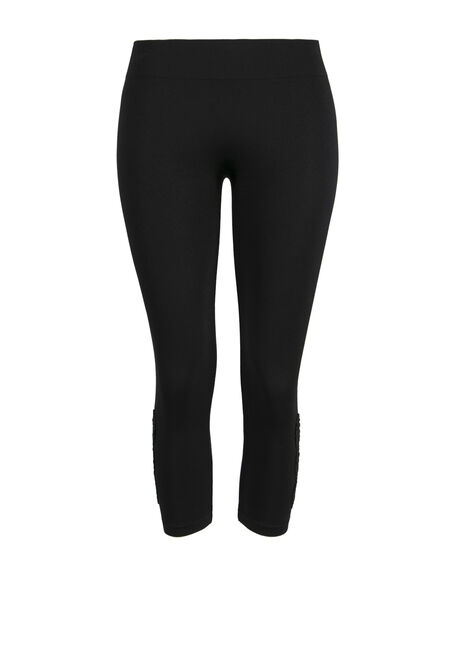Ladies' Crochet Insert Capri Legging